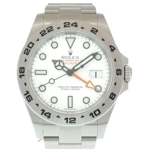 Rolex Explorer II self-winding watch 216570 SS White Dial 2 Men's ROLEX