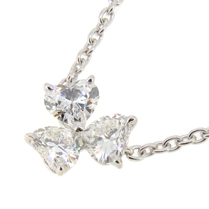 Cartier Love Support Diamond Ladies Necklace 750 White Gold