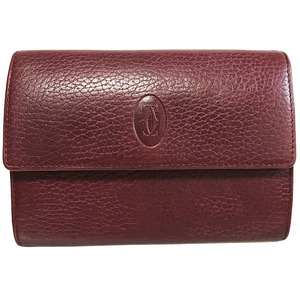 Cartier wallet Must Line purse leather 2C tri-fold middle