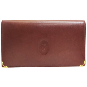 Cartier Wallet Must Line Leather 2C Long
