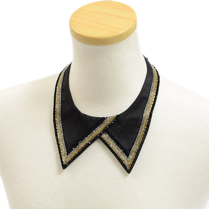 Hermes collar with silk bijoux black