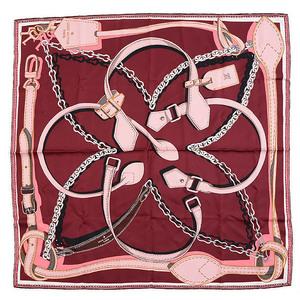 Louis Vuitton Calle Handle Me Silk Scarf Ladies Large Format Bordeaux M70405