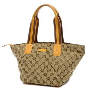 Gucci GG pattern handbag canvas beige yellow 131228