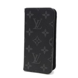 Louis Vuitton Monogram Eclipse iPhoneX/Folio Smartphone Case M63446