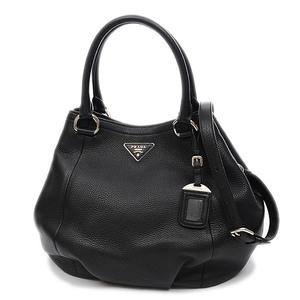 Prada Leather 2Way Shoulder Bag Handbag Black BN2792