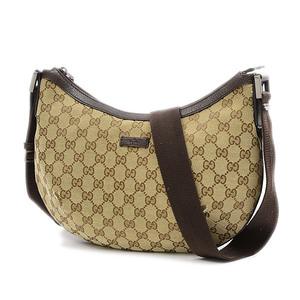 Gucci GG pattern shoulder bag canvas beige brown 181092