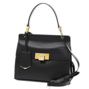 Balenciaga Valencia Galdi 2way Shoulder Bag Calf Black 332219
