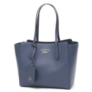 Gucci Swing Tote Bag Leather Blue 354408