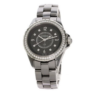 Chanel H2565 J12 Chromatic 8P Diamond Wrist Watch Ceramic Ladies