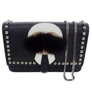 FENDI Karl Lagerfeld Chain Shoulder Bag Wallet 8M0346 7MP F0V3X
