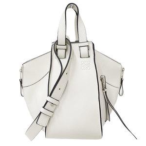 LOEWE Hammock Handbag Shoulder Bag Leather White Women