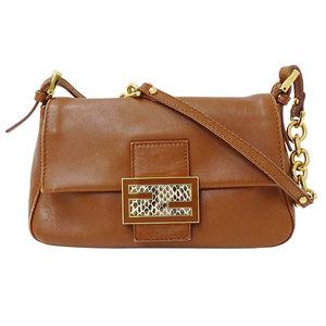 Fendi FENDI Mamma Bucket Handbag Zucca Ladies Leather GD Metal Fittings 8BR180