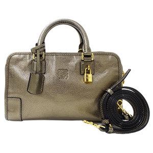 LOEWE Amazona 23 Handbag Shoulder Bag 2way Leather Bronze Ladies