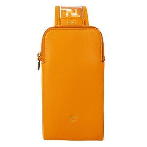 Fendi Zukka smartphone case body bag leather PVC