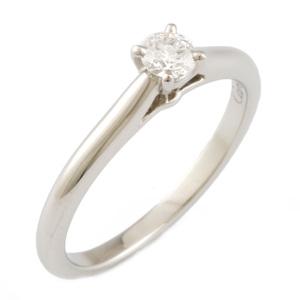 CARTIER Pt950 Ring Diamond Solitaire #50  Ladies Platinum