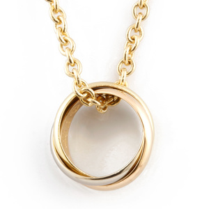 CARTIER K18 YG/WG/PG Necklace Trinity Ladies Yellow Gold