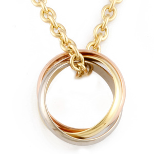 CARTIER K18YG Necklace Trinity Ladies K18 Yellow Gold