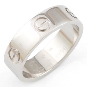 Cartier K18WG Ring Love  K18 White Gold Ladies Men's