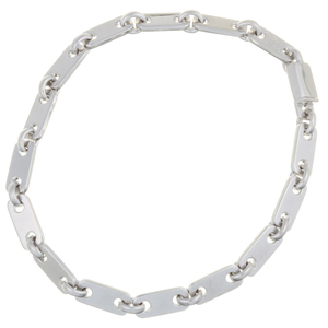 Cartier Fidelity Ladies Bracelet 750 White Gold Silver
