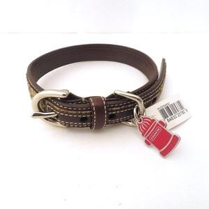 Coach COACH Pet Collar 60178 Signature Beige Accessories