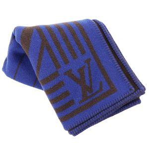 Louis Vuitton Monogram Cara Column Blanket Cashmere Wool Navy