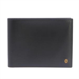 Cartier Pasha Men's  Calfskin Bill Wallet (bi-fold) Black