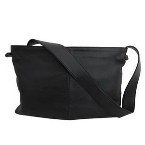 Loewe bag logo black gold metal fittings leather shoulder one LOEWE ladies