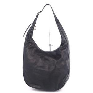 LOEWE One Shoulder Bag Tote Lamb Leather Black Ladies Semi