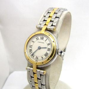 Cartier カルティエ 時計 パンテール ヴァンドームSM 1ロウ 166920 シルバー イエローゴールド クォーツ コンビ レディース