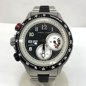 HAMILTON ハミルトン 時計 自動巻き カーキタキマイラー クロノグラフ ブラック文字盤 ラバー メンズ