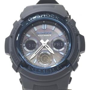 G-SHOCK ジーショック 時計 AWG-M100A-1AJF CASIO カシオ アナデジ デジアナ ソーラー タフソーラー ブラック メンズ