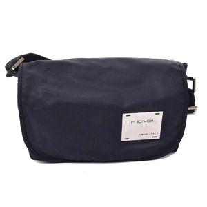 FENDI Fendi Nylon Metal Elogo Shoulder Bag Leather
