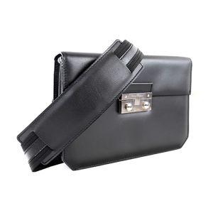 Salvatore Ferragamo Ferragamo Salvatore 2way Leather Shoulder Bag Clutch Silver Hardware Mens