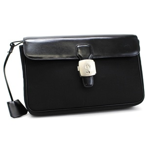 Dunhill second bag clutch nylon leather black dunhill men's business