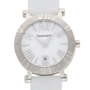 TIFFANY Atlas Steel Leather Quartz Ladies Watch Z1300.11.11A20A71A