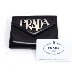 Prada bi-fold compact wallet logo