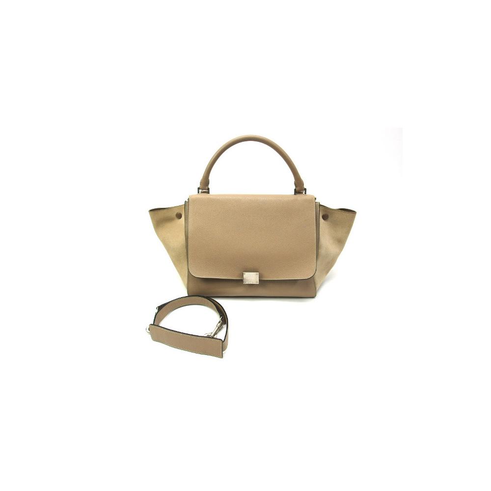 Celine Trapeze Medium Handbag Beige
