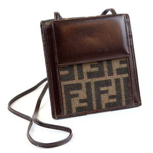 Fendi Vintage Zucca Pattern FF Logo Wallet Bag Shoulder Sacoche Old