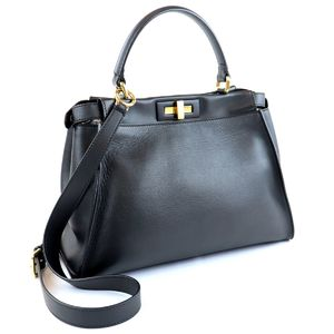 Fendi Peek-A-Boo Iconic Medium 2way Handbag Shoulder Ladies Gold Hardware