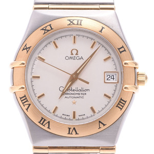 OMEGA Constellation Chronometer 18K Gold Steel Automatic Mens Watch 1202.30