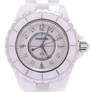 CHANEL J12 33mm 8P Diamond H2422 Boys Ceramic Watch Quartz Shell Dial