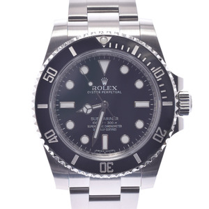 Rolex Submariner Black Bezel 114060 Men's Watch Automatic Dial