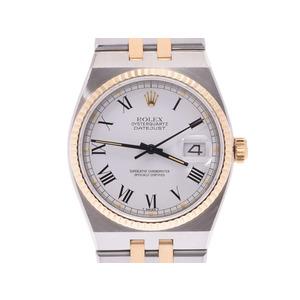 ROLEX Rolex Datejust 17013 Unisex YG Watch Quartz White Dial