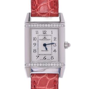 JAEGER-LECOULTRE 265.8.080 Ladies Leather Watch Quartz Silver Dial