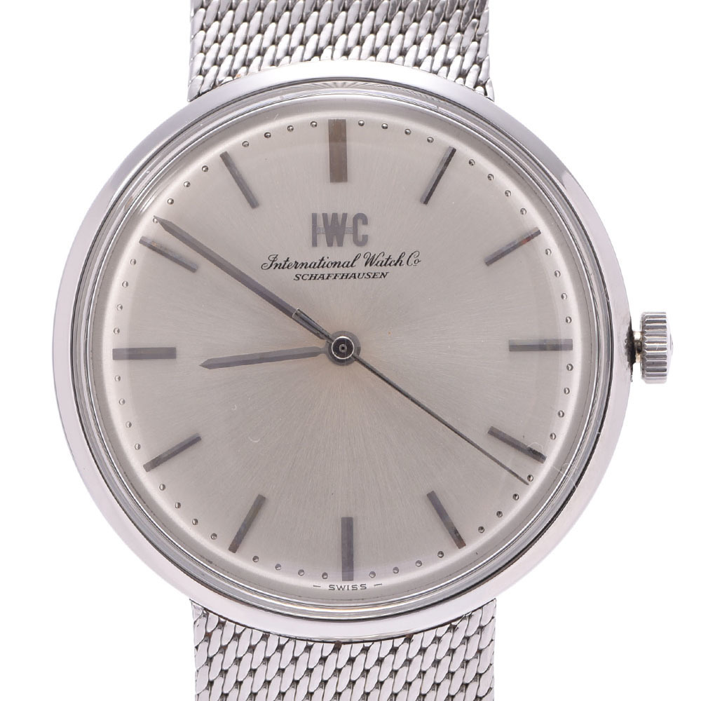 IWC Schaffhausen Stainless Steel Hand-Winding Mens Watch