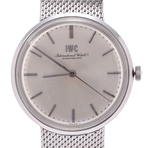 IWC Schaffhausen Stainless Steel Hand-Winding Mens Watch