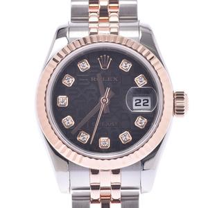 ROLEX Rolex Datejust 10P Diamond 179171G Ladies PG watch Automatic winding Black computer dial