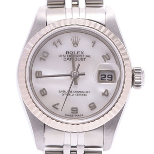 ROLEX Rolex Datejust 79174NR Ladies Watch Automatic White Shell Arabic Dial