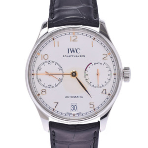 IWC Portuguese Chronograph Steel Leather Automatic Watch IW500704
