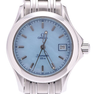 OMEGA Seamaster 120M Blue MOP Dial Steel Quartz Ladies Watch 2581.87